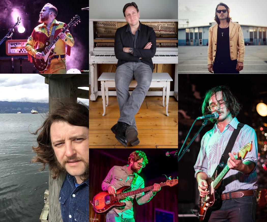 Michael Boguski, Dustin Bentall, Chris Sleightholm, Chris Mason, Lucas Goetz and Jim Bowskill.